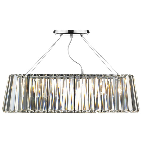 där Lighting CEC0350 Cecilia 3 Light Polished Chrome Oval Pendant Ceiling Light