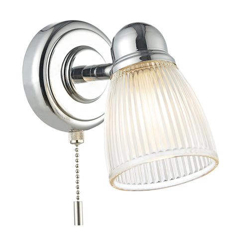 där Lighting CED0738 Cedric Single Light Polished Nickel Wall Spotlight