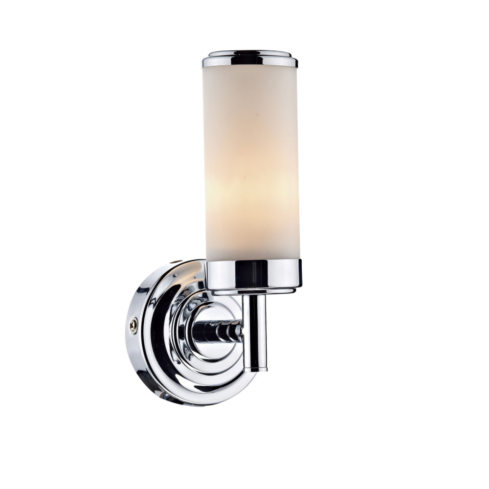 där Lighting CEN0750 Century Single Light Polished Chrome Switched Wall Light