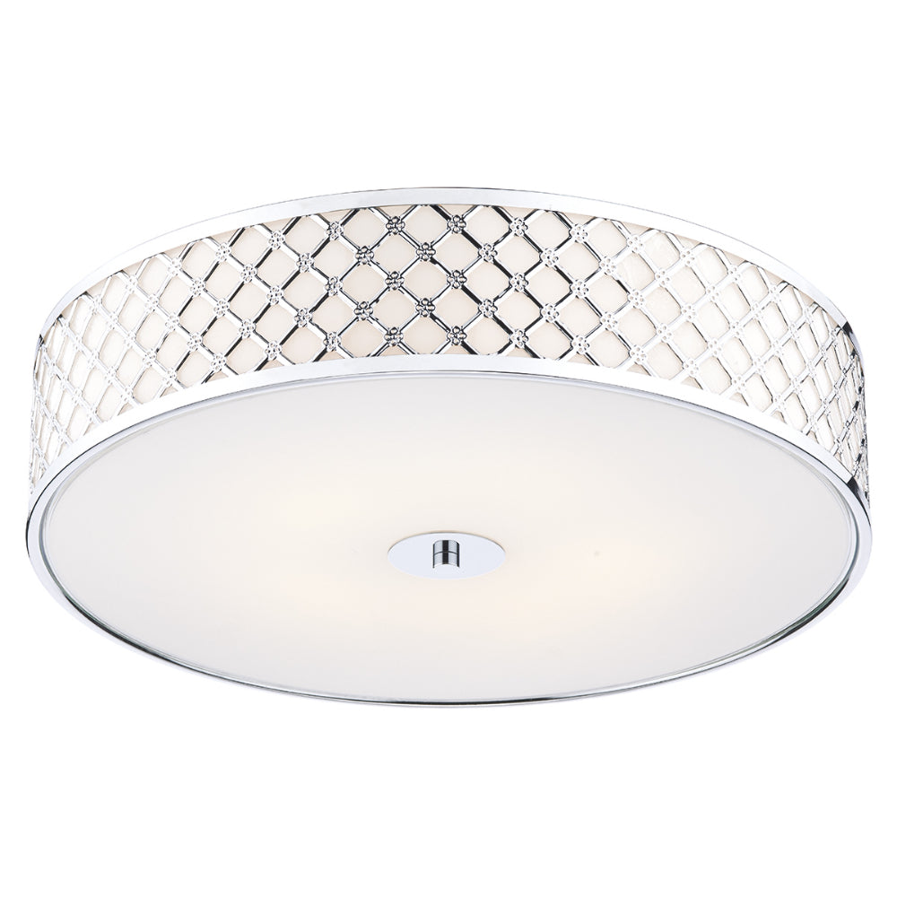 där Lighting CIV5050 Civic 5 Light Polished Chrome Large Flush Ceiling Light