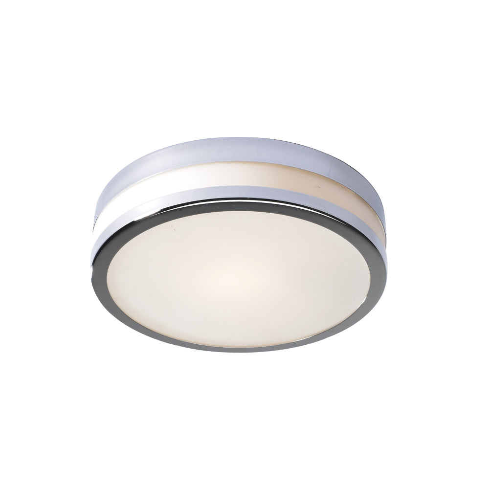 där Lighting CYR5050 Cyro Single Light Polished Chrome Large Flush Ceiling Light
