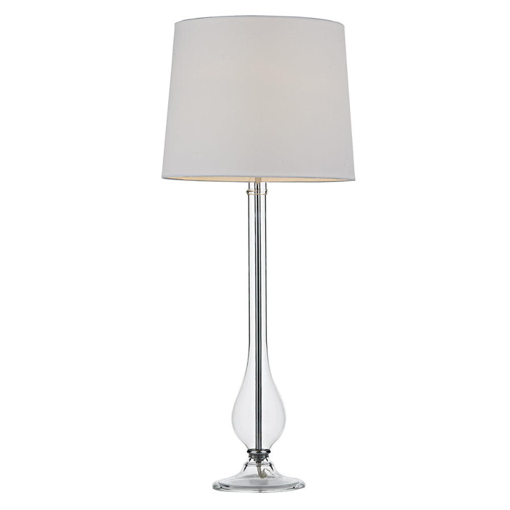 där Lighting DIL4008 Dillon Clear Glass Table Lamp