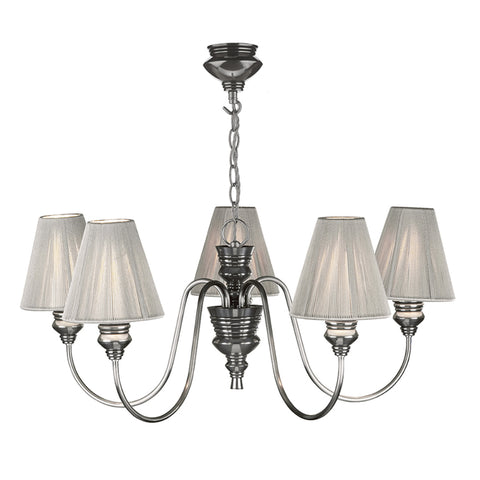 David Hunt DOR0567 Doreen 5 Light Pewter Ceiling Light