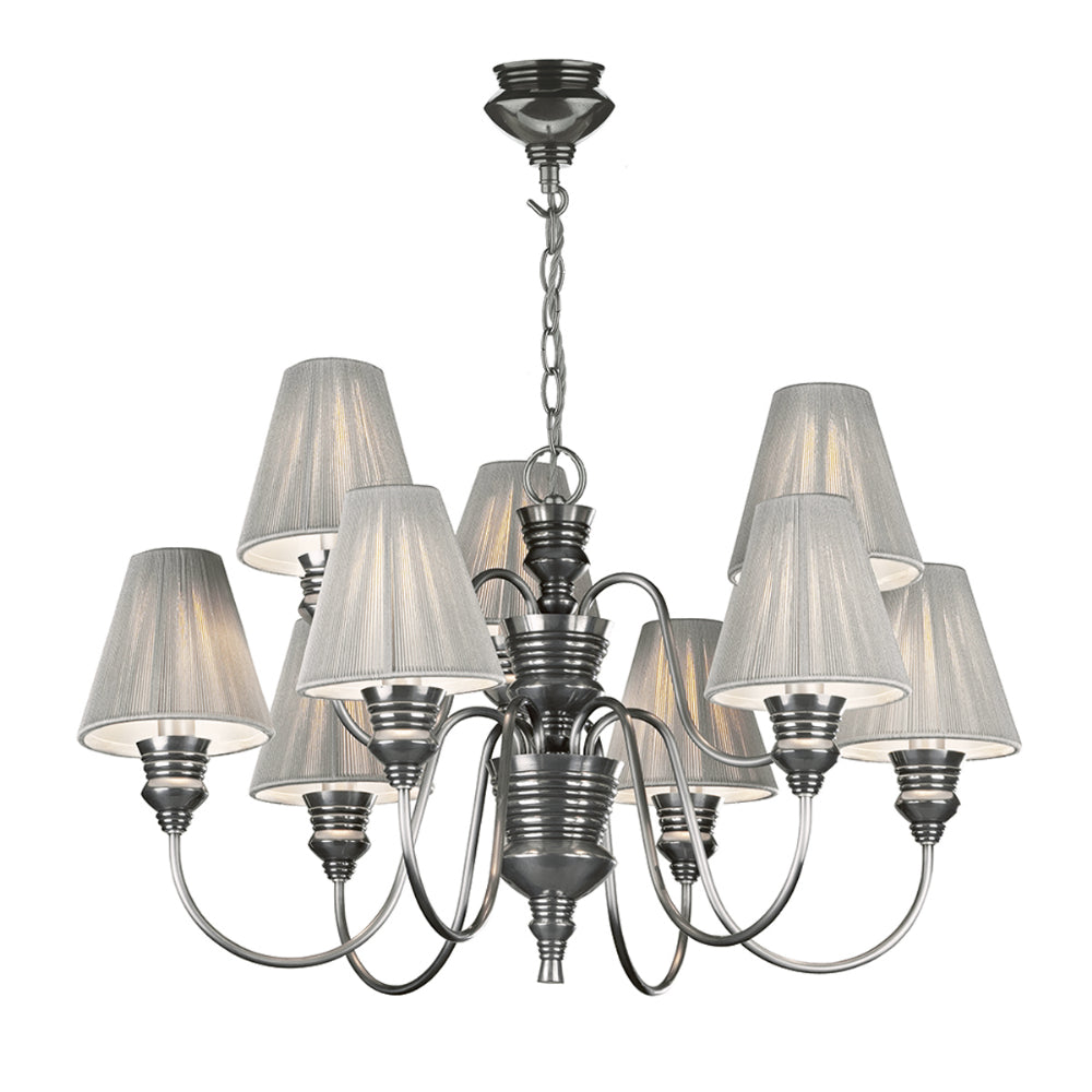 David Hunt DOR1367 Doreen 9 Light Pewter Ceiling Light