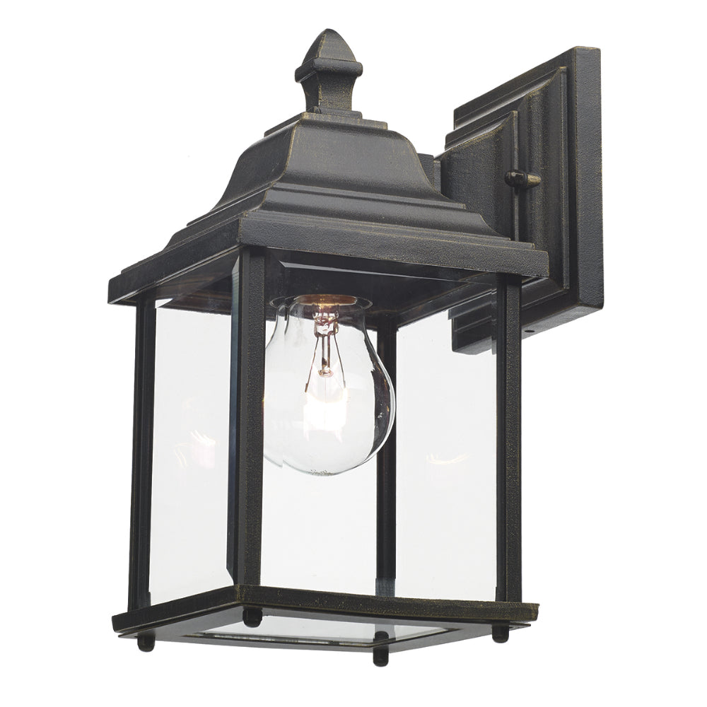 där Lighting DOY1635 Doyle Single Light Black Gold Outdoor Wall Light
