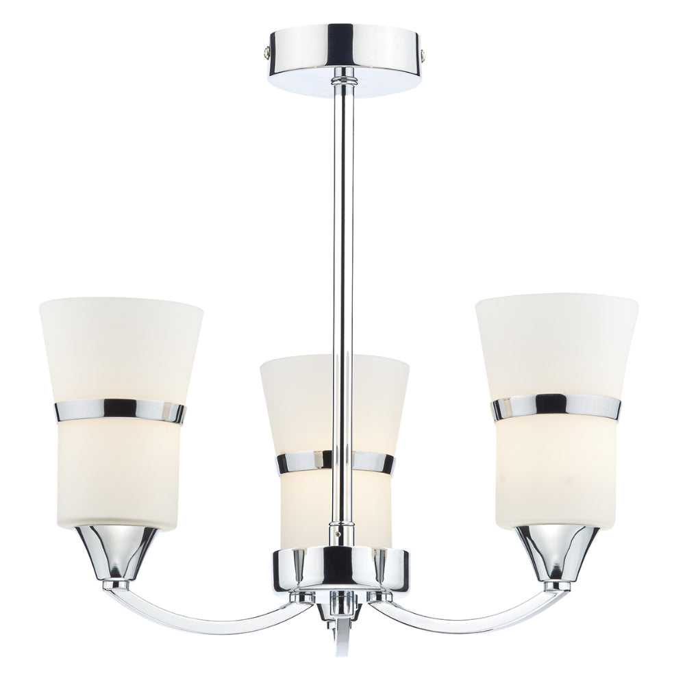 där Lighting DUB0350/LED Dublin 3 Light Polished Chrome LED Semi-Flush Ceiling Light