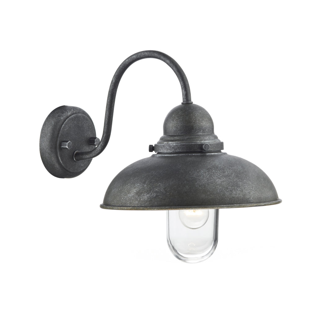 där Lighting DYN0722 Dynamo Single Light Black Outdoor Wall Light