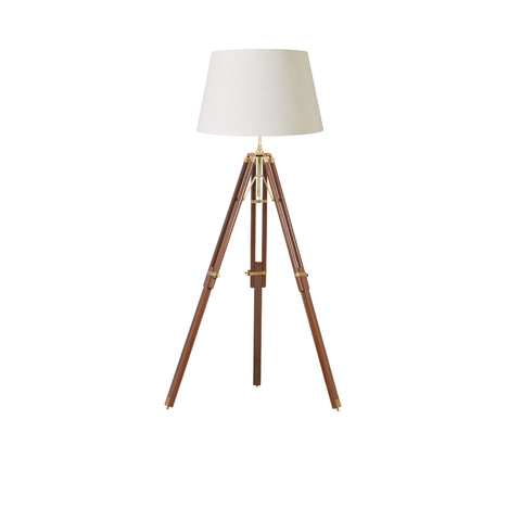 Endon Lighting EH-TRIPOD-FLDW Tripod Single Light Floor Lamp Brass Finish Base Only