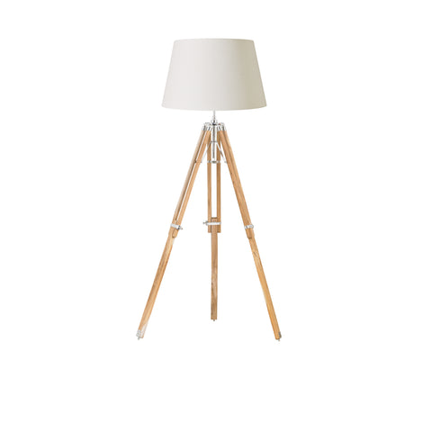 Endon Lighting EH-TRIPOD-FLNA Tripod Single Light Floor Lamp Bright Nickel Finish Base only