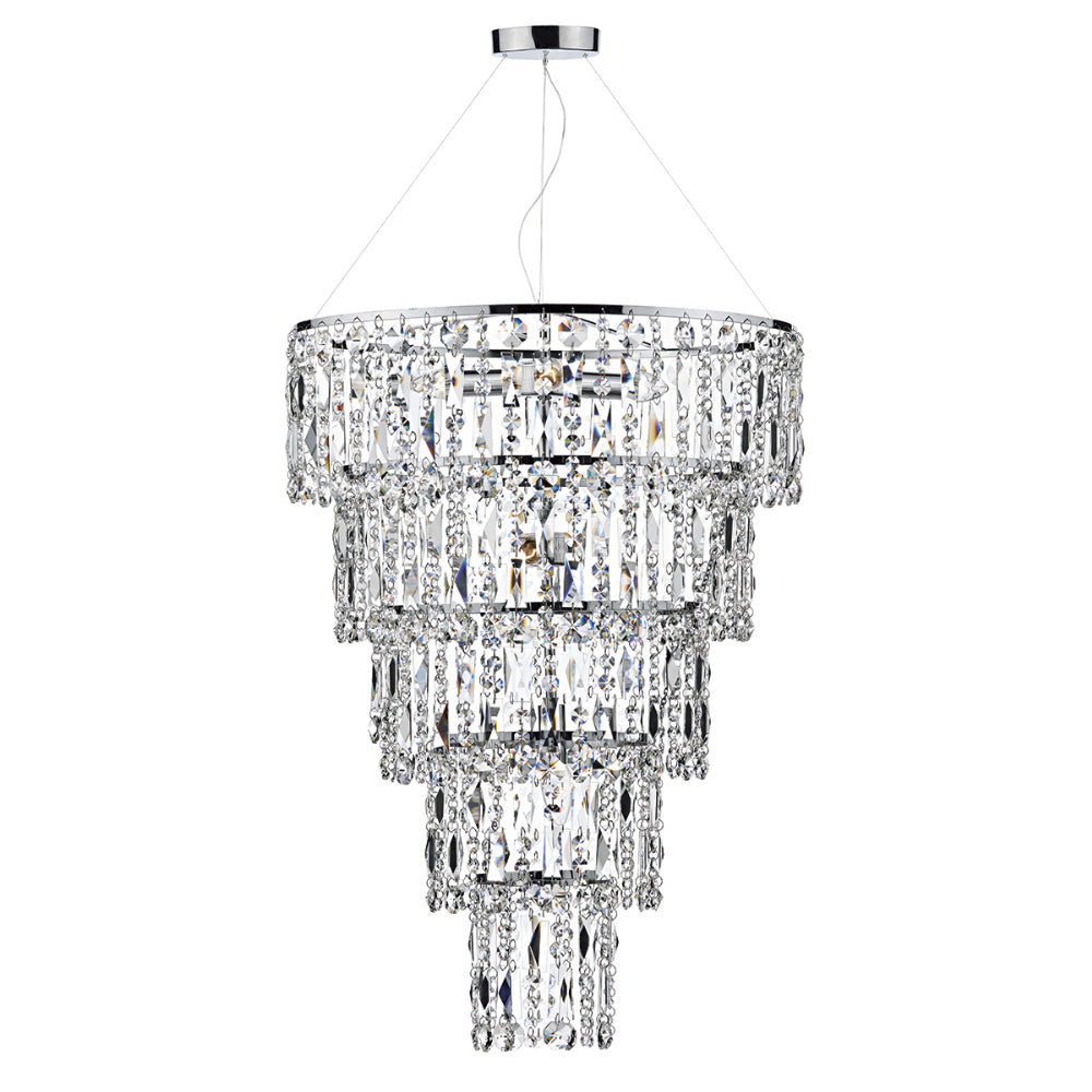 där Lighting ESC0650 Escala 6 Light Polished Chrome Pendant Ceiling Light