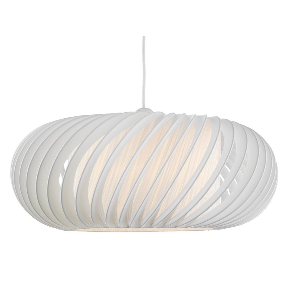 där Lighting EXP8633 Explorer White Large Easy Fit Pendant Shade