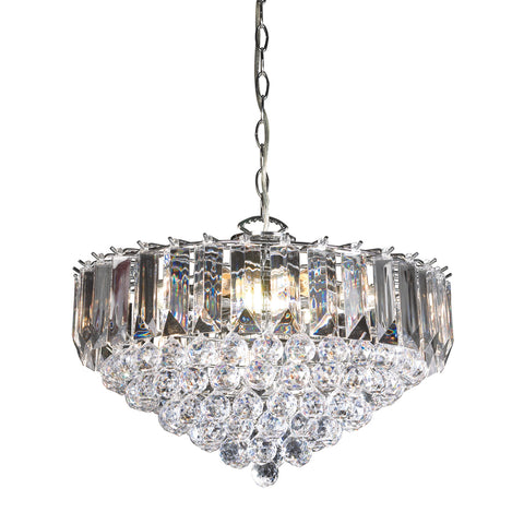 Endon Lighting FARGO-18CH Fargo 6 Light Pendant In Chrome And Clear Acrylic Finish