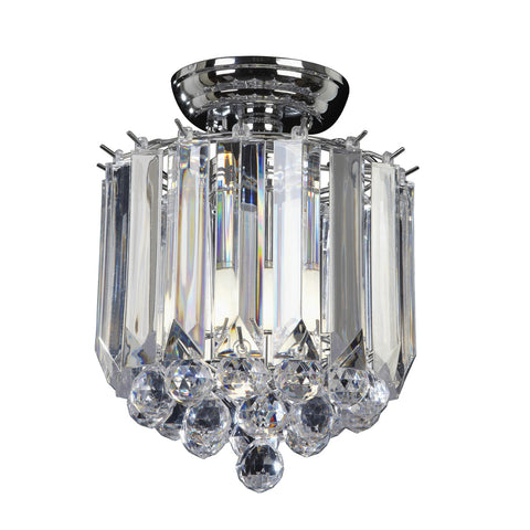 Endon Lighting FARGO-CH Fargo 2 Light Flush In Chrome And Clear Acrylic Finish