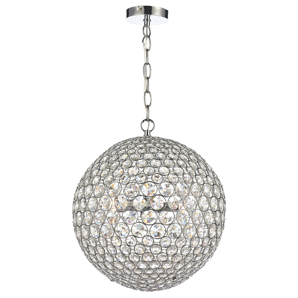 där Lighting FIE0550 Fiesta 5 Light Polished Chrome Pendant Ceiling Light