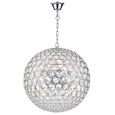 där Lighting FIE0850 Fiesta 8 Light Polished Chrome Pendant Ceiling Light