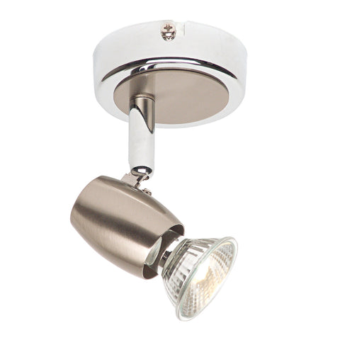 Endon Lighting G5501077 Palermo Single Light Spotlight Brushed Chrome & Chrome Finish