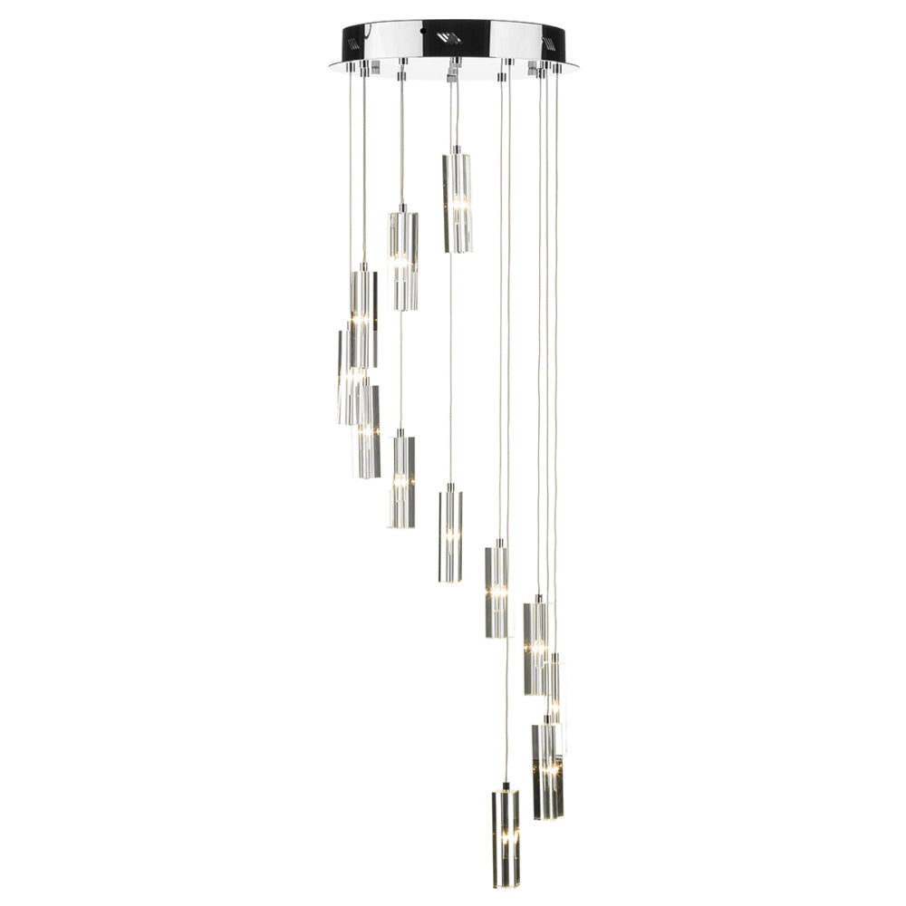 där Lighting GAL1250 Galileo 12 Light Polished Chrome Pendant Ceiling Light