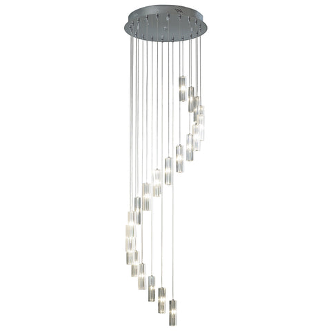 där Lighting GAL6350 Galileo 20 Light Polished Chrome 3m Pendant Ceiling Light