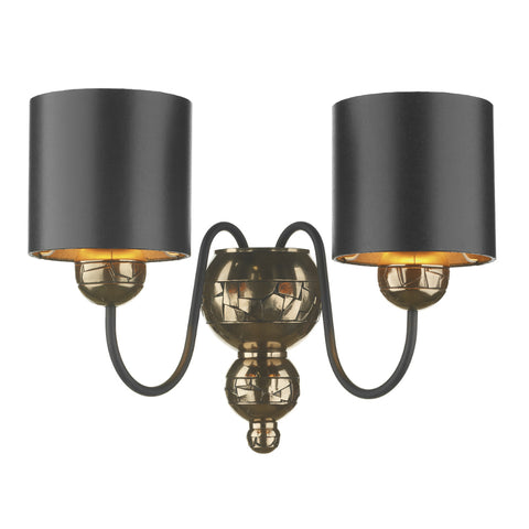 David Hunt GAR0973 Garbo 2 Light Bronze/Black Wall Light