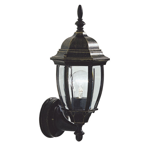 där Lighting HAM162235 Hambro Single Light Black Gold Outdoor Wall Light