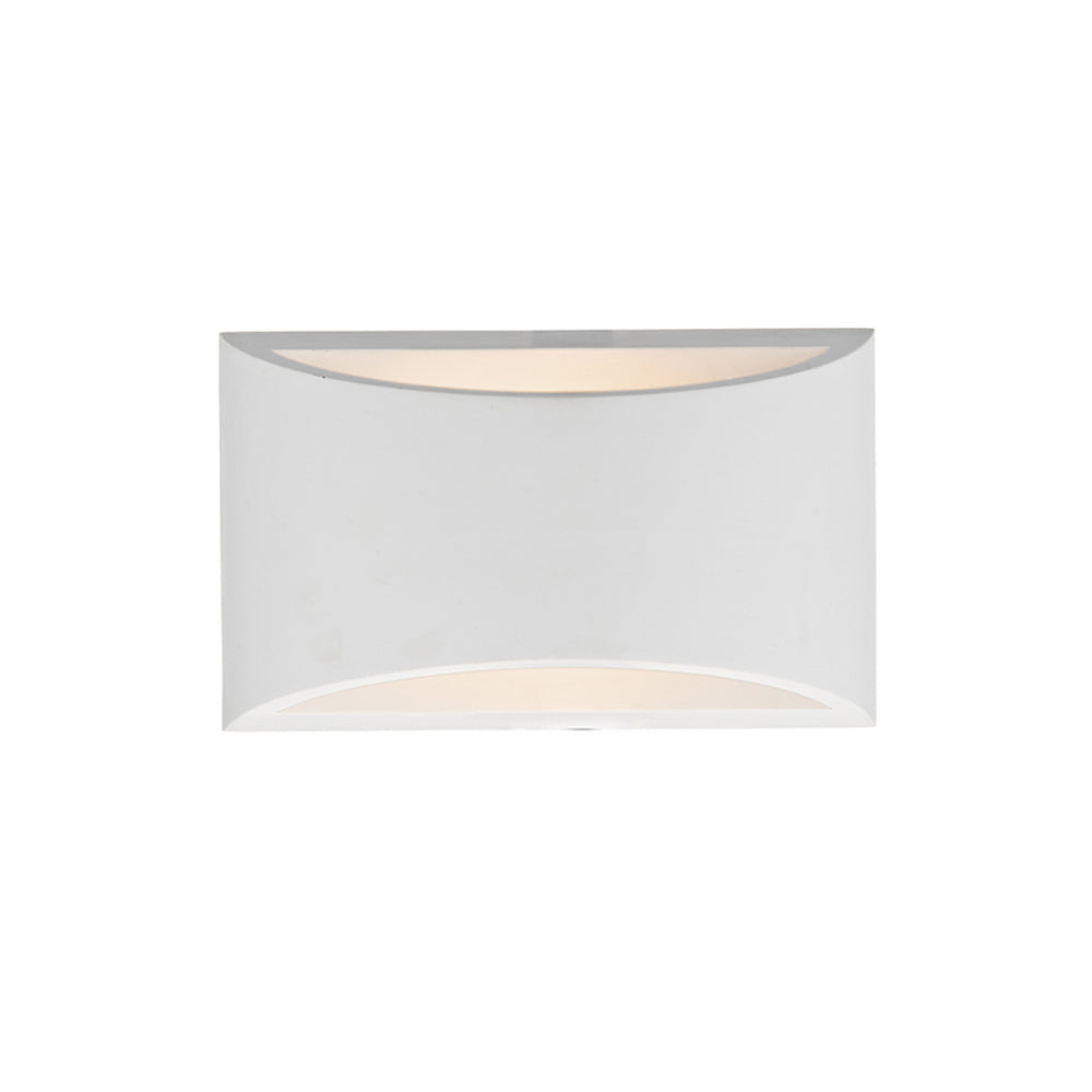 där Lighting HOV072 Hove Single Light White Plaster Wall Light