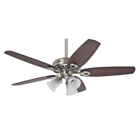 "Hunter BUILDER PLUS - 52"" / 132cm Ceiling Fan Brushed Nickel"