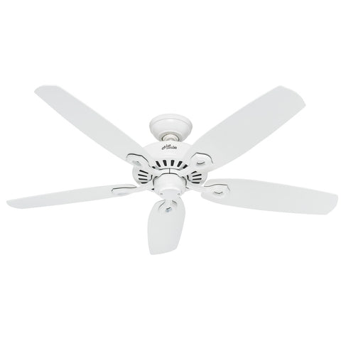 "Hunter BUILDER ELITE - 52"" / 132cm Ceiling Fan Snow White"
