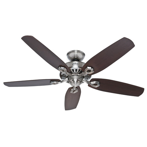 "Hunter BUILDER ELITE - 52"" / 132cm Ceiling Fan Brushed Nickel"