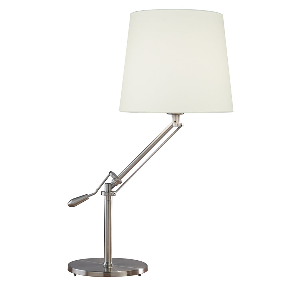 där Lighting INF4046 Infusion Satin Chrome Table Lamp