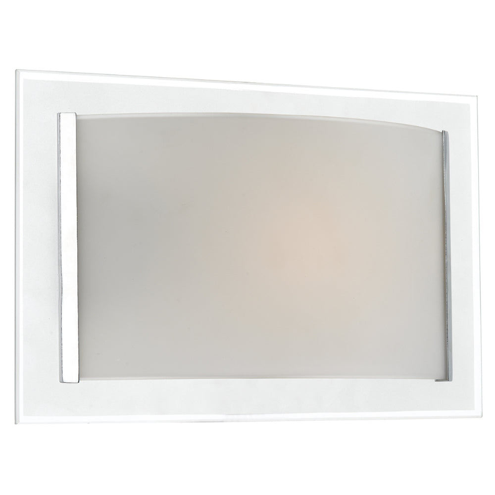 där Lighting INV0750 Inverse Single Light Frosted Glass Switched Wall Light