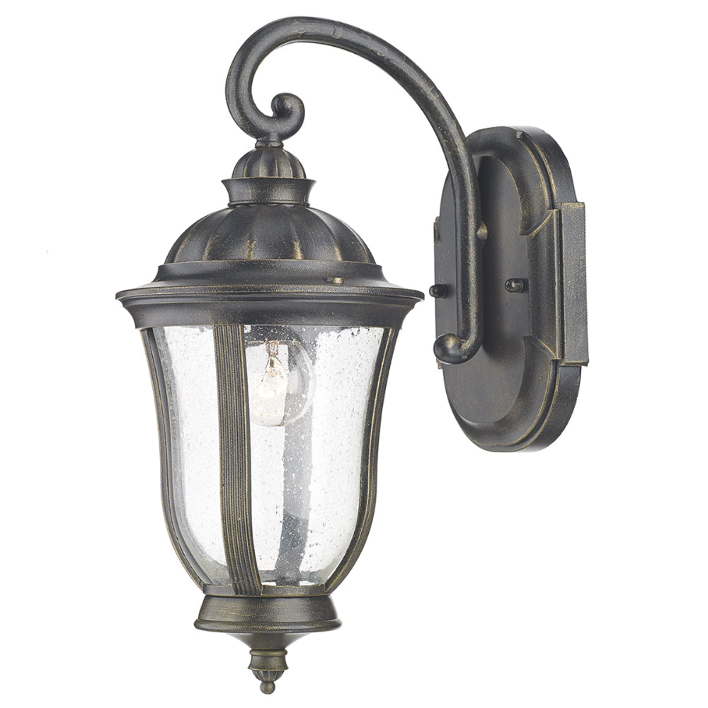där Lighting JOH1635 Johnson Single Light Black Gold Outdoor Wall Light
