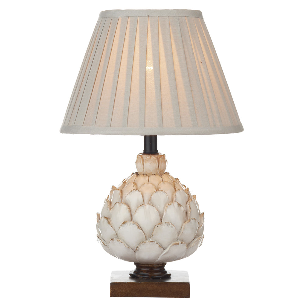 där Lighting LAY4133/X Layer Small Cream Table Lamp