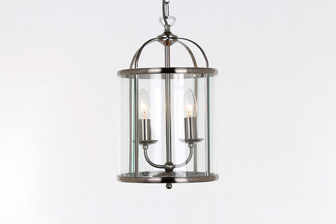 Impex Lighting LG77132/SN Orly 2 Light Satin Nickel Round Lantern Ceiling