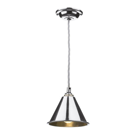 David Hunt Lighting LON0150 London Single Light Pendant in Polished Chrome Finish