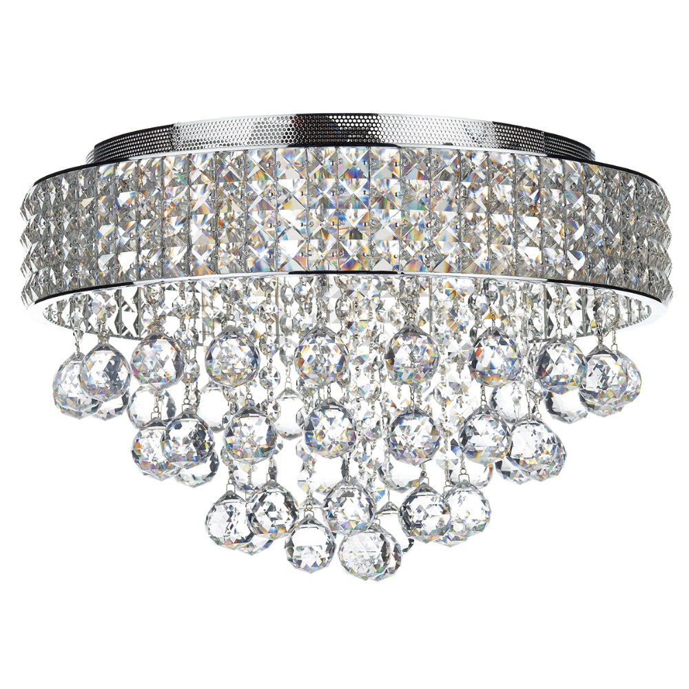 där Lighting MAT5450 Matrix 5 Light Polished Chrome Flush Ceiling Light