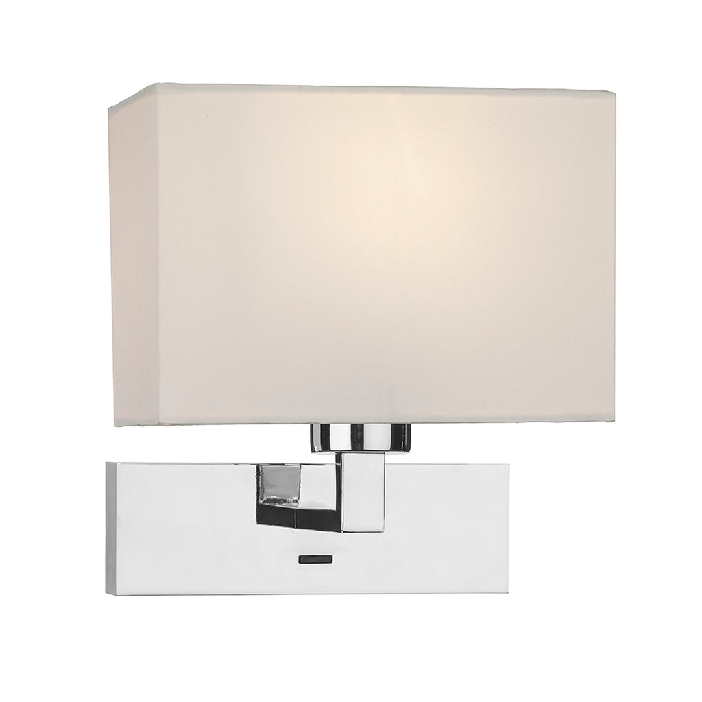 där Lighting MOD7150 Modena Single Light Polished Chrome Wall Light (Bracket Only)