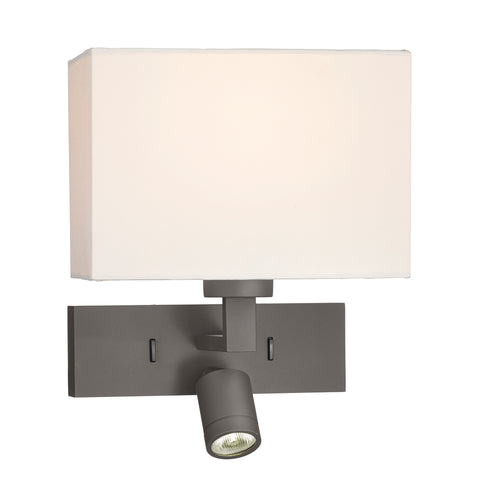 där Lighting MOD7163L Modena Dual Light Bronze Wall Light With LED Reading Light (Bracket Only)
