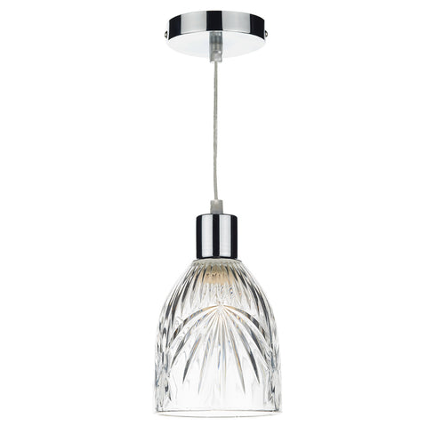 där Lighting MOT6508 Motif Clear Easy Fit Pendant Shade