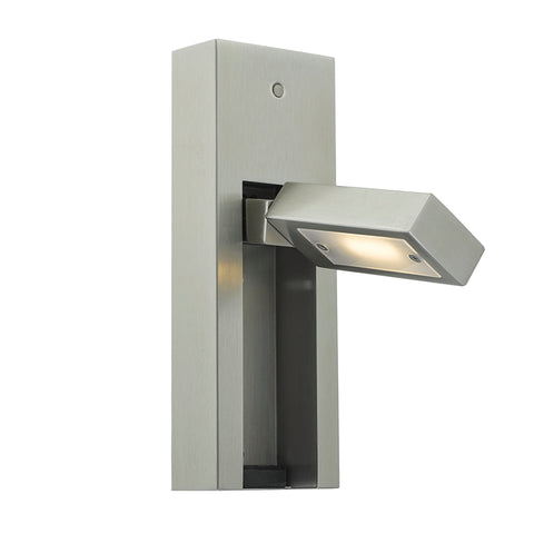 där Lighting MYL7146 Mylie Single Light Satin Chrome LED Wall Light