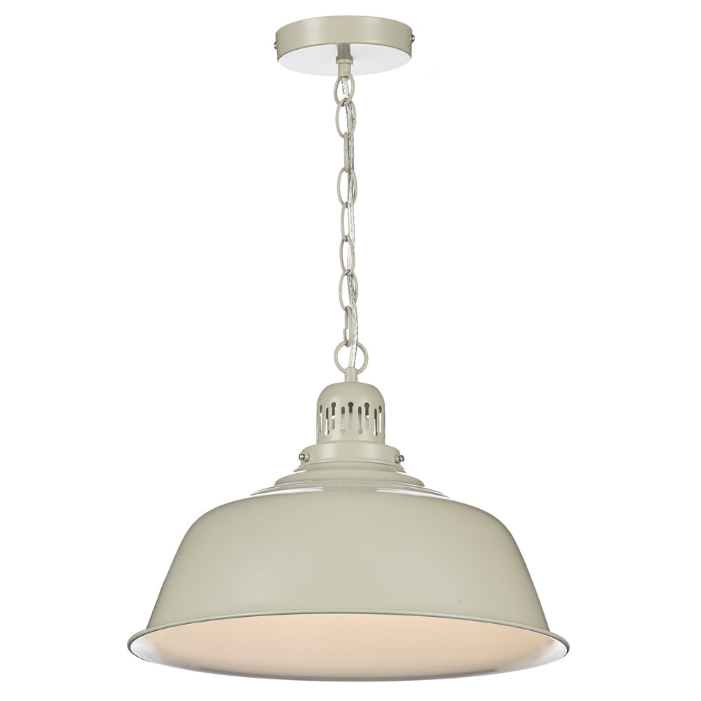 där Lighting NAN0133 Nantucket Single Light Cream Pendant Ceiling Light
