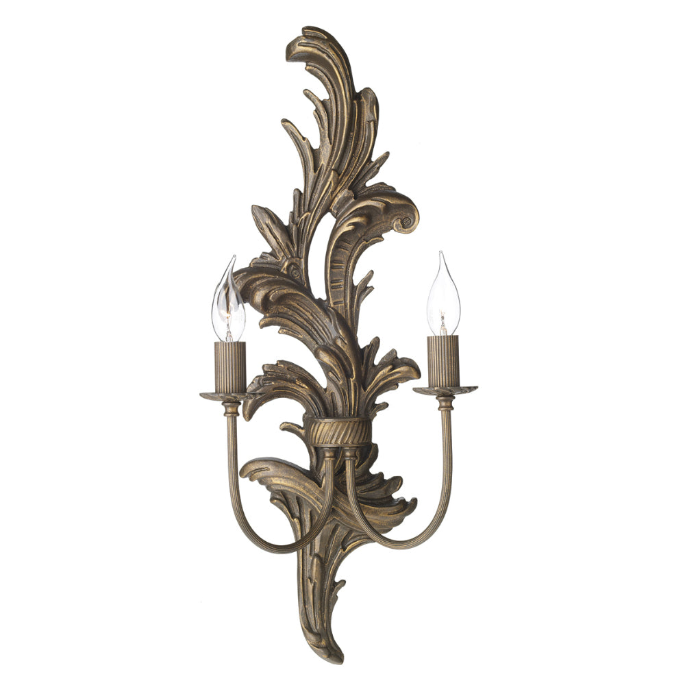 David Hunt Lighting NAP0929L Napoleon 2 Light Burnt Gold Wall Light