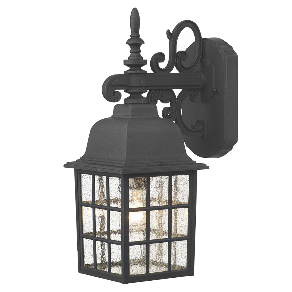 där Lighting NOR1522 Norfolk Single Light Black Outdoor Wall Light