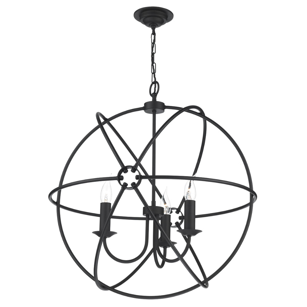 David Hunt ORB0322 Orb 3 Light Black Pendant Ceiling Light
