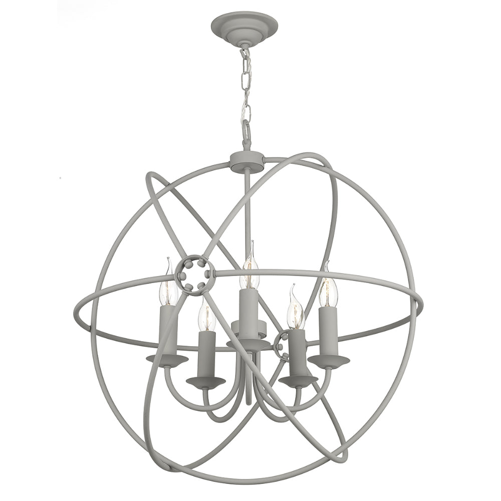 David Hunt ORB0539 Orb 5 Light Ash Grey Pendant Ceiling Light