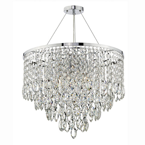 där Lighting PES0550 Pescara 5 Light Polished Chrome Pendant Ceiling Light