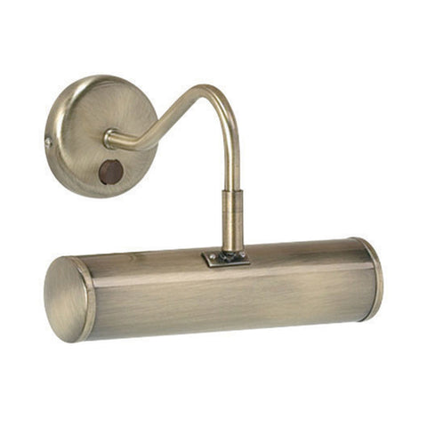 Endon Lighting PL200-E14-SWAN Turner Single Light Antique Brass Small Picture Light