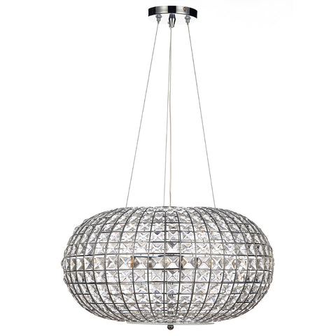 där Lighting PLA0350 Plaza 3 Light Polished Chrome Pendant Ceiling Light