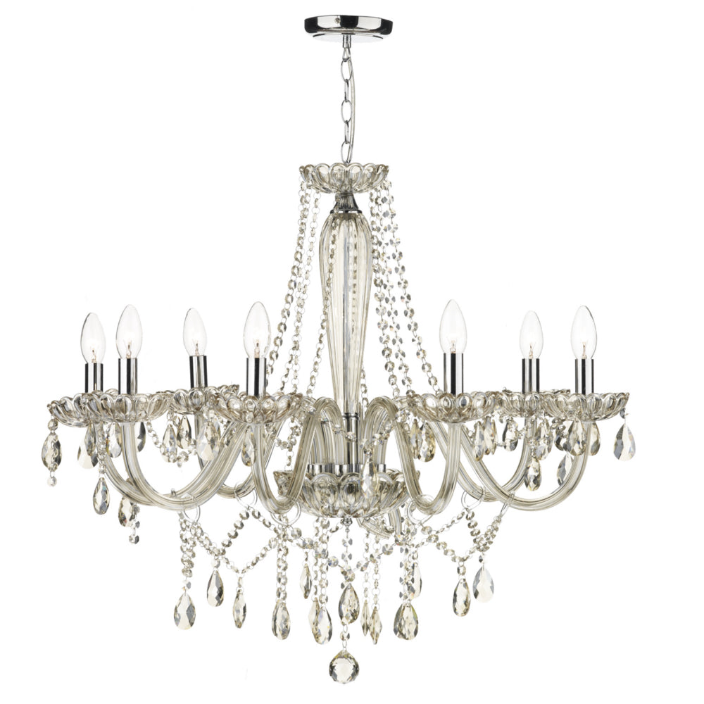 där Lighting RAP0806 Raphael 8 Light Champagne Glass Chandelier