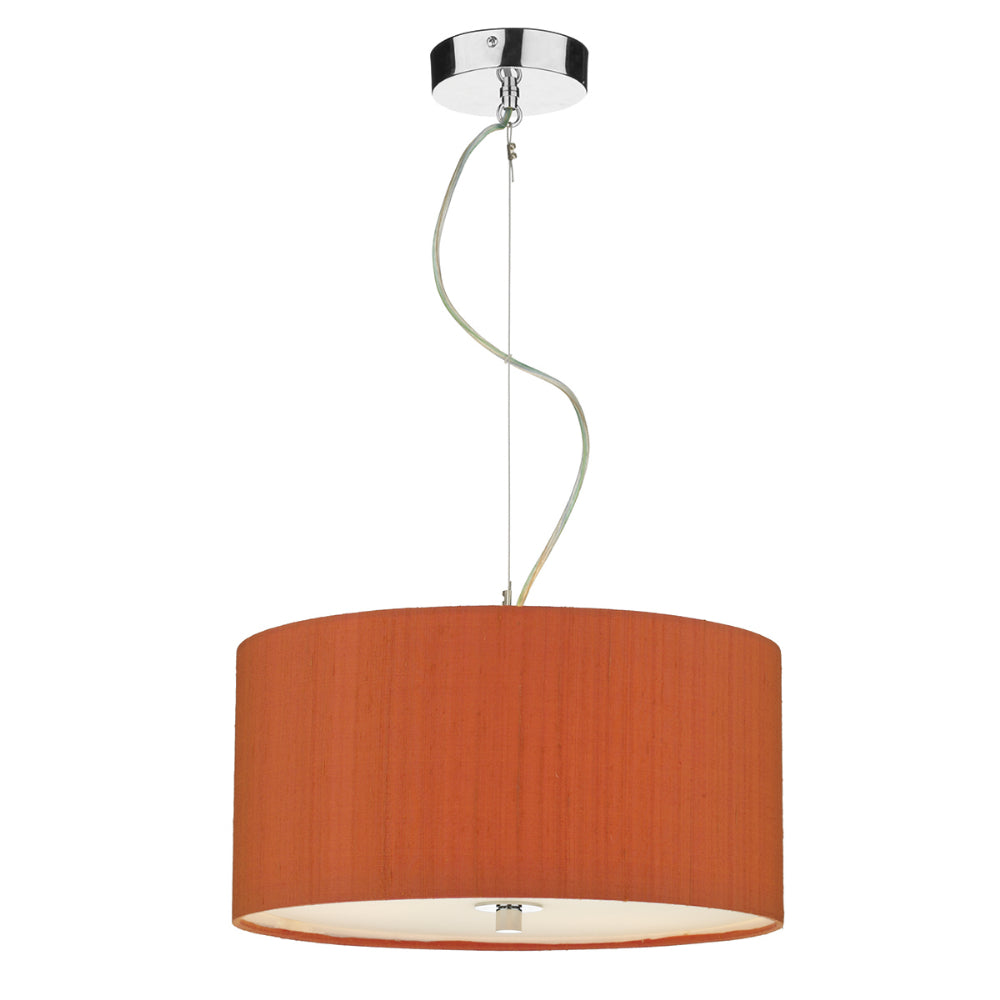 där Lighting REN1711 Renoir 60cm Firefly Orange Pendant Ceiling Light