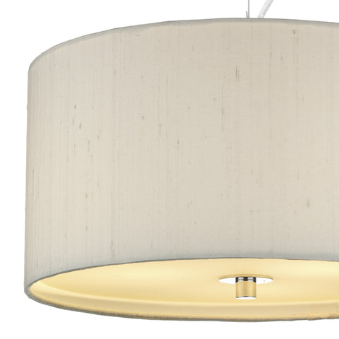 där Lighting REN1015 Renoir 40cm Ivory Pendant Ceiling Light